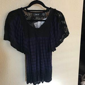 NWT Miss Me navy/black large top